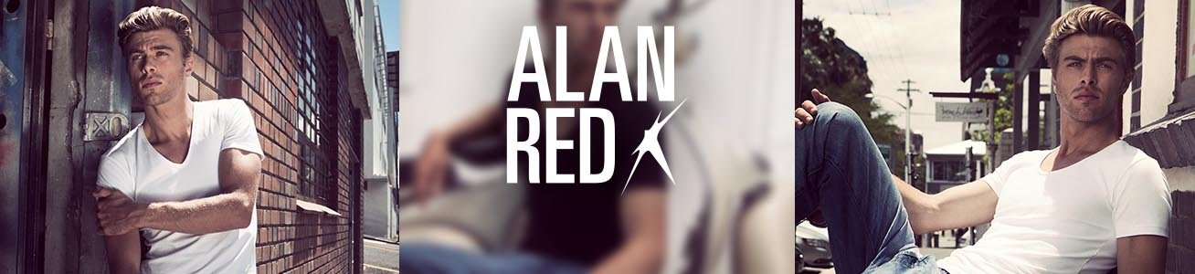 Alan Red Deep V-Neck