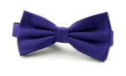 Silk Bow Tie Deep Purple F55