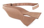 Self Tie Bow Tie Beige F54