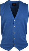 Suitable Casual Gilet Blauw