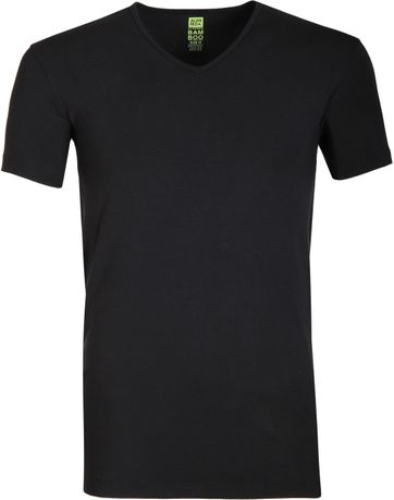 Alan Red Bamboo T-shirt Schwarz