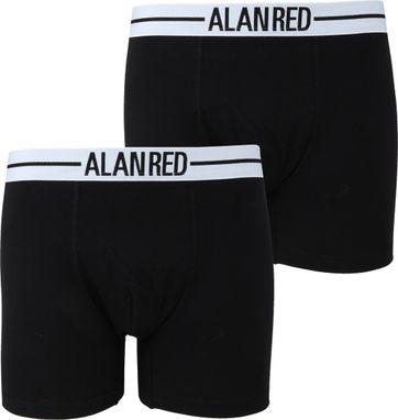 Alan Red Boxershort Zwart 2Pack