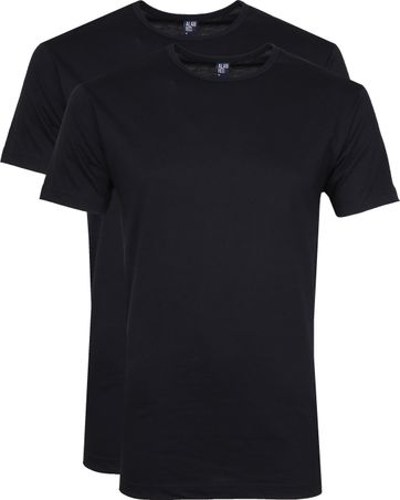 Alan Red Derby O-Hals T-Shirt Navy (2Pack)
