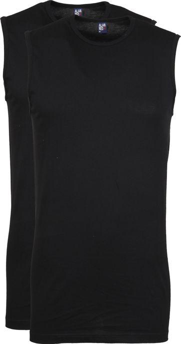 Alan Red Montana Singlet No Sleeves Black 2-Pack