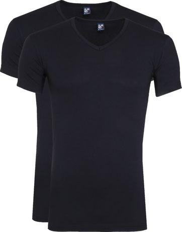 Alan Red Oklahoma T-Shirt Stretch Navy (2-Pack)