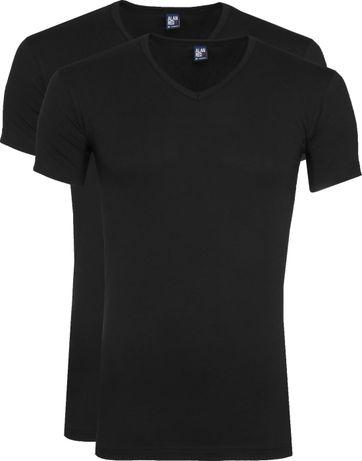 Alan Red Oklahoma T-Shirt Stretch Zwart (2-Pack)