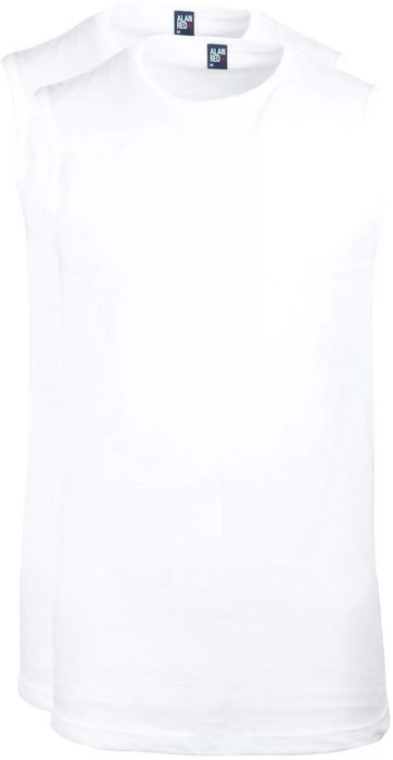 Alan Red T-Montana Singlet Mouwloos Wit (2-Pack)