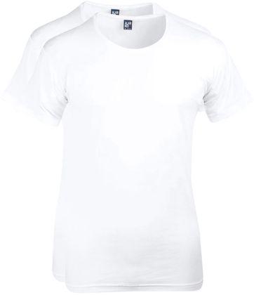 Alan Red T-Shirt Extra Brede O-Hals Stretch