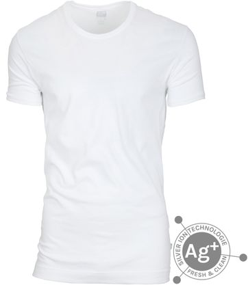 Alan Red T-shirt Fresh White