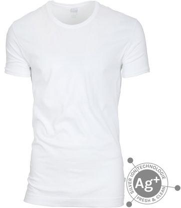 Alan Red T-shirt Fresh White