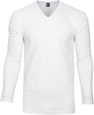 Alan Red T-shirt Oslo V Hals Longsleeve