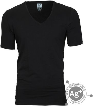 Alan Red T-shirt Oxford Black