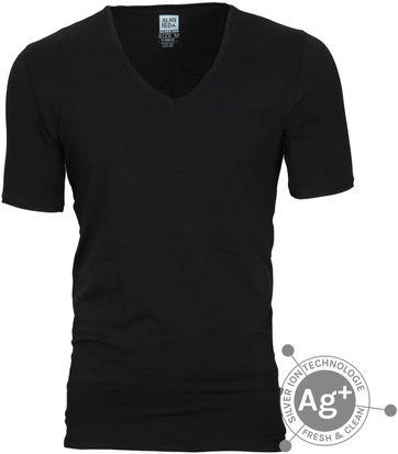 Alan Red T-shirt Oxford Schwarz