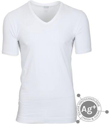Alan Red T-shirt Oxford Weiss