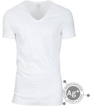 Alan Red T-shirt Silver Weiss