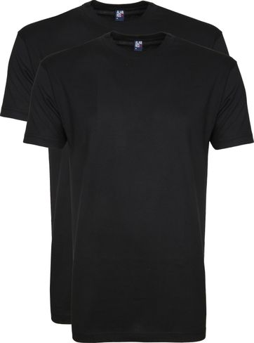 Alan Red T-shirt Virginia O-Neck Black 2-Pack