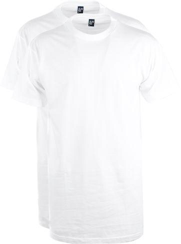 Alan Red T-Shirt Virginia Weiß Extra Lang (2er-Pack)