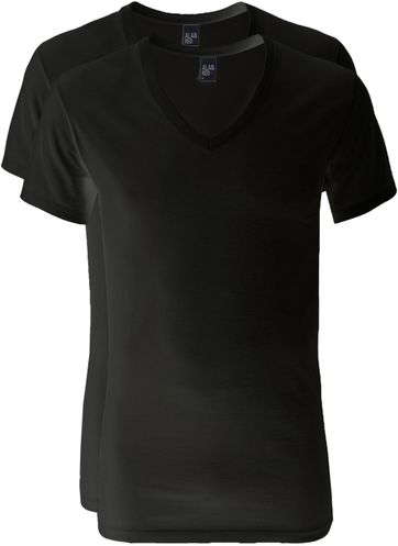 Alan Red V-Neck Dean T-Shirt (2Pack) Black