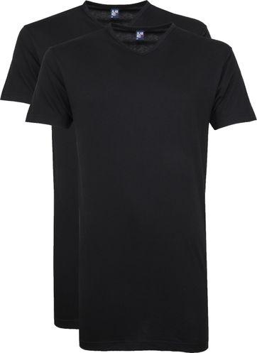 Alan Red Vermont V-Hals T-Shirt Zwart 2Pack