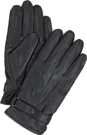 Barbour Handschoenen Glad Leer Zwart