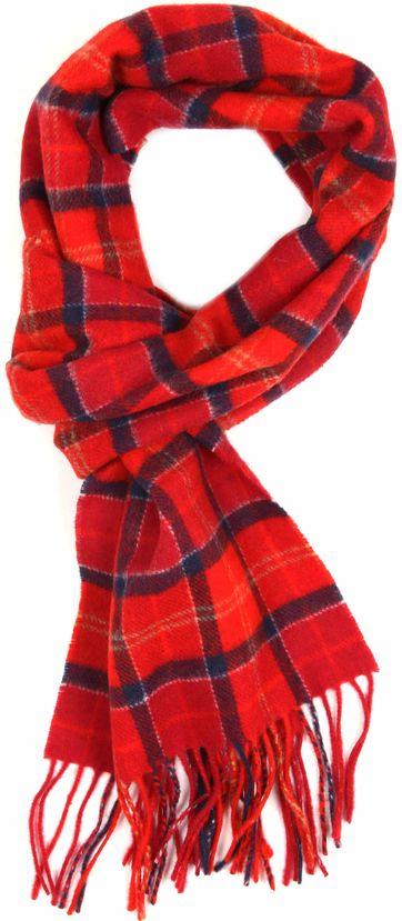 BarbourScarfs Tartan Lambswool Red
