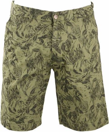Basic Shorts Green Print