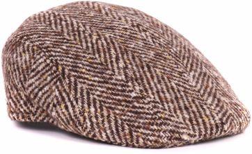 Beige Flat Hat Wolle