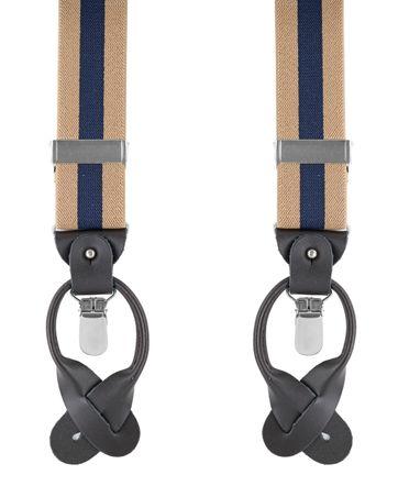 Beige-Navy Suspenders