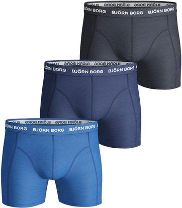 Bjorn Borg Boxers 3Pack Uni Blauw