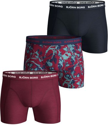 Bjorn Borg Boxershorts 3-Pack Beet Red