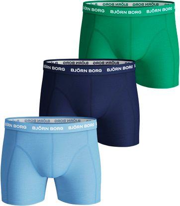 Bjorn Borg Boxershorts Solids 3-Pack Placid