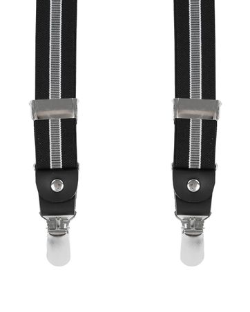 Black Suspenders Striped