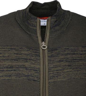 Blue Industry Donkergroen Zipper Vest