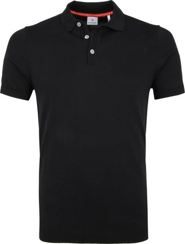 Blue Industry Knit Poloshirt Black