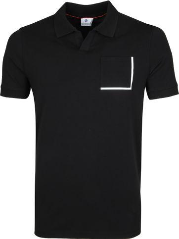 Blue Industry Poloshirt Zwart