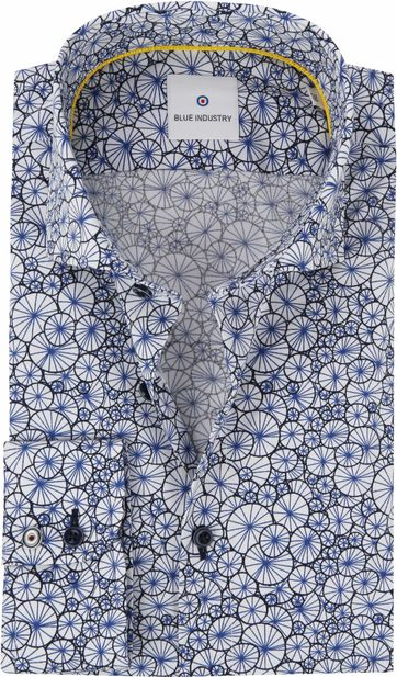 Blue Industry Shirt Blue Dessin