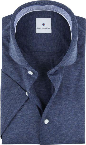 Blue Industry Shirt Short Sleeves Dark Blue