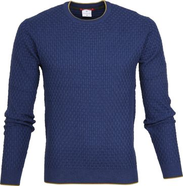 Blue Industry Structure Pullover Blau