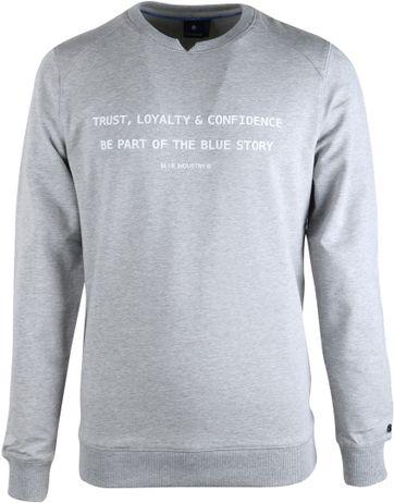 Blue Industry Sweater Grijs