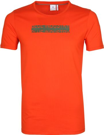 Blue Industry T-Shirt Logo Orange