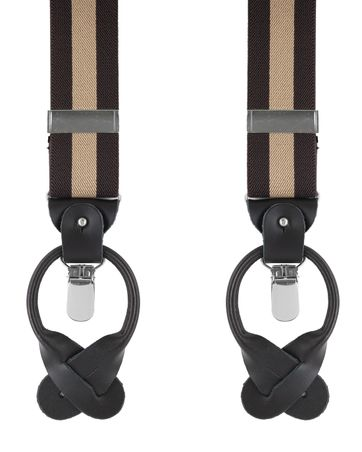 Brown-Beige Suspenders