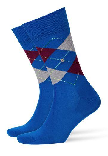 Burlington Sokken Manchester Blauw
