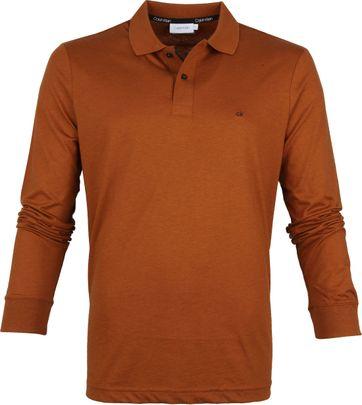 Calvin Klein LS Poloshirt Braun