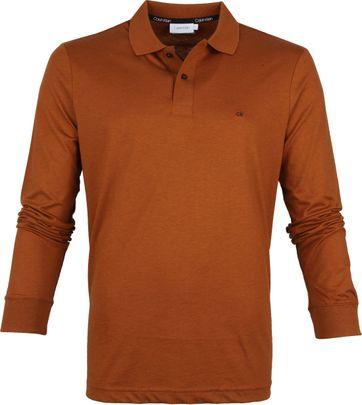 Calvin Klein LS Poloshirt Brown