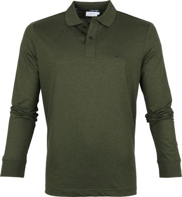 Calvin Klein LS Poloshirt Dark Green