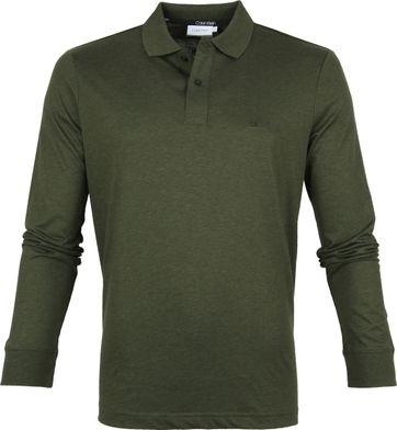 Calvin Klein LS Poloshirt Dunkelgrün