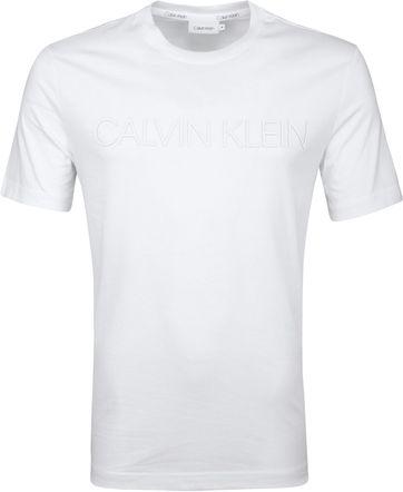 Calvin Klein T-Shirt Logo Groß Weiß