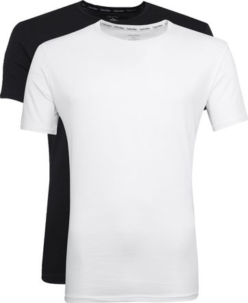 Calvin Klein T-Shirt O-Neck Wit Zwart 2-pack