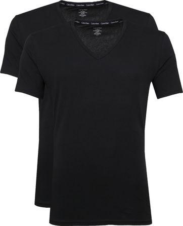 Calvin Klein T-Shirt V-Neck Zwart 2-pack