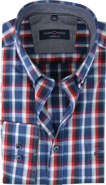 Casa Moda Casual Shirt Check Multi-colour